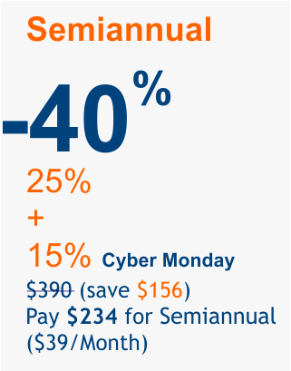 Cyber Monday 2018 offer 40%
