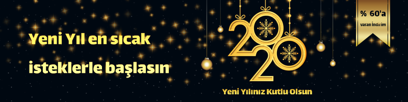 Yeni Yılınız Kutlu Olsun 2020 % 60'a varan İndirim