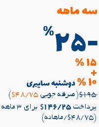 آفر دوشنبه سایبری 25 درصد